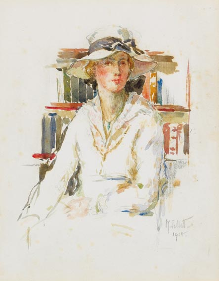 Woman In Summer Hat Mainie Jellett